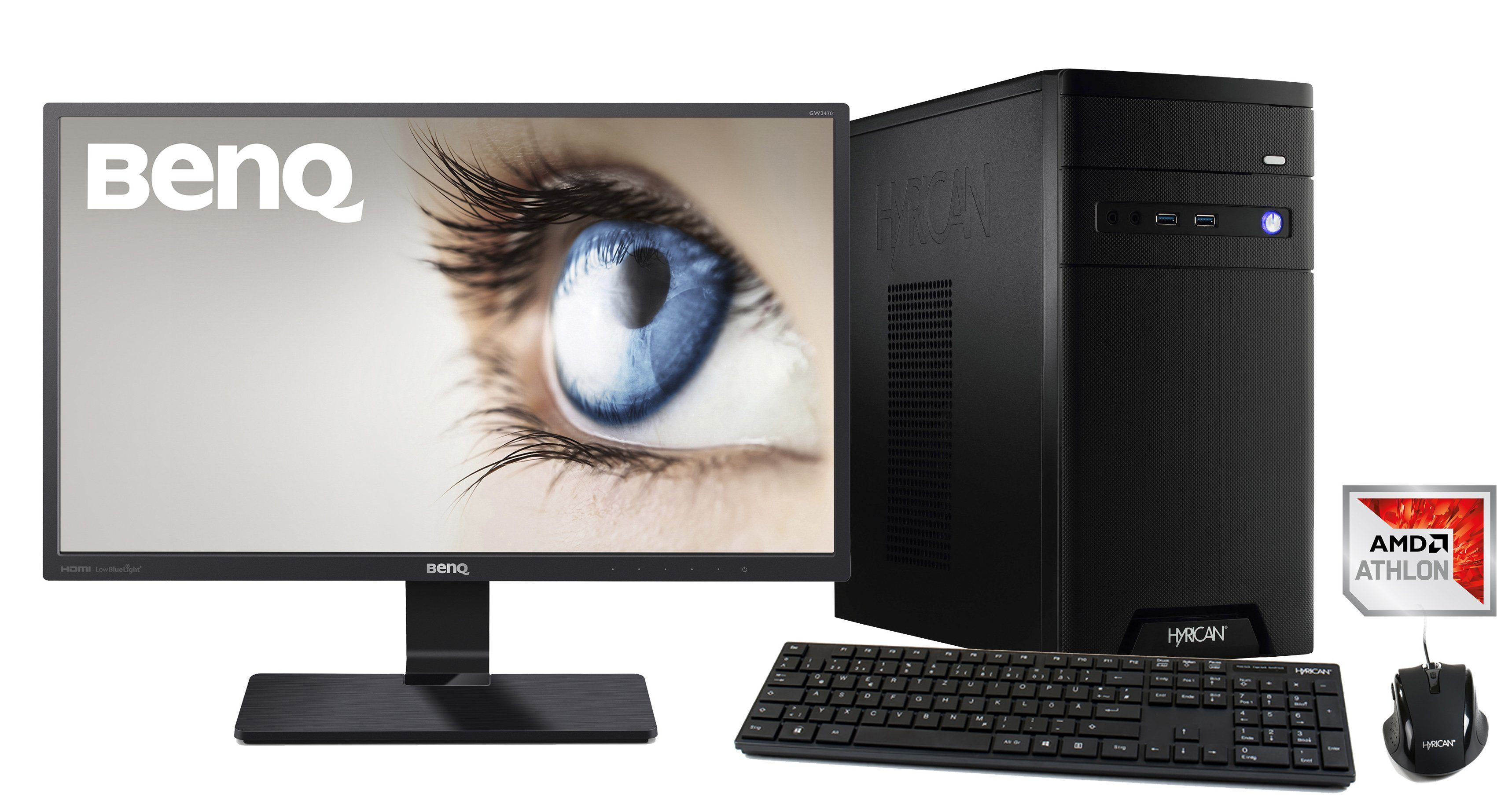 HYRICAN CyberGamer Athlon X4 950 8GB 1TB GeForce® GTX 1050+ Monitor »CyberGamer SET1346«