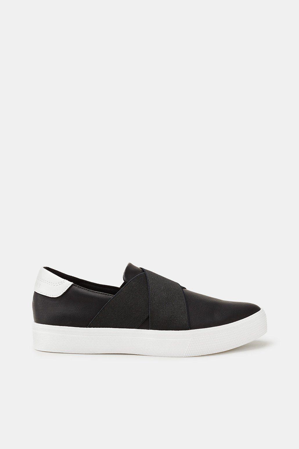 ESPRIT Slip On-Sneaker in Leder-Optik kaufen  BLACK