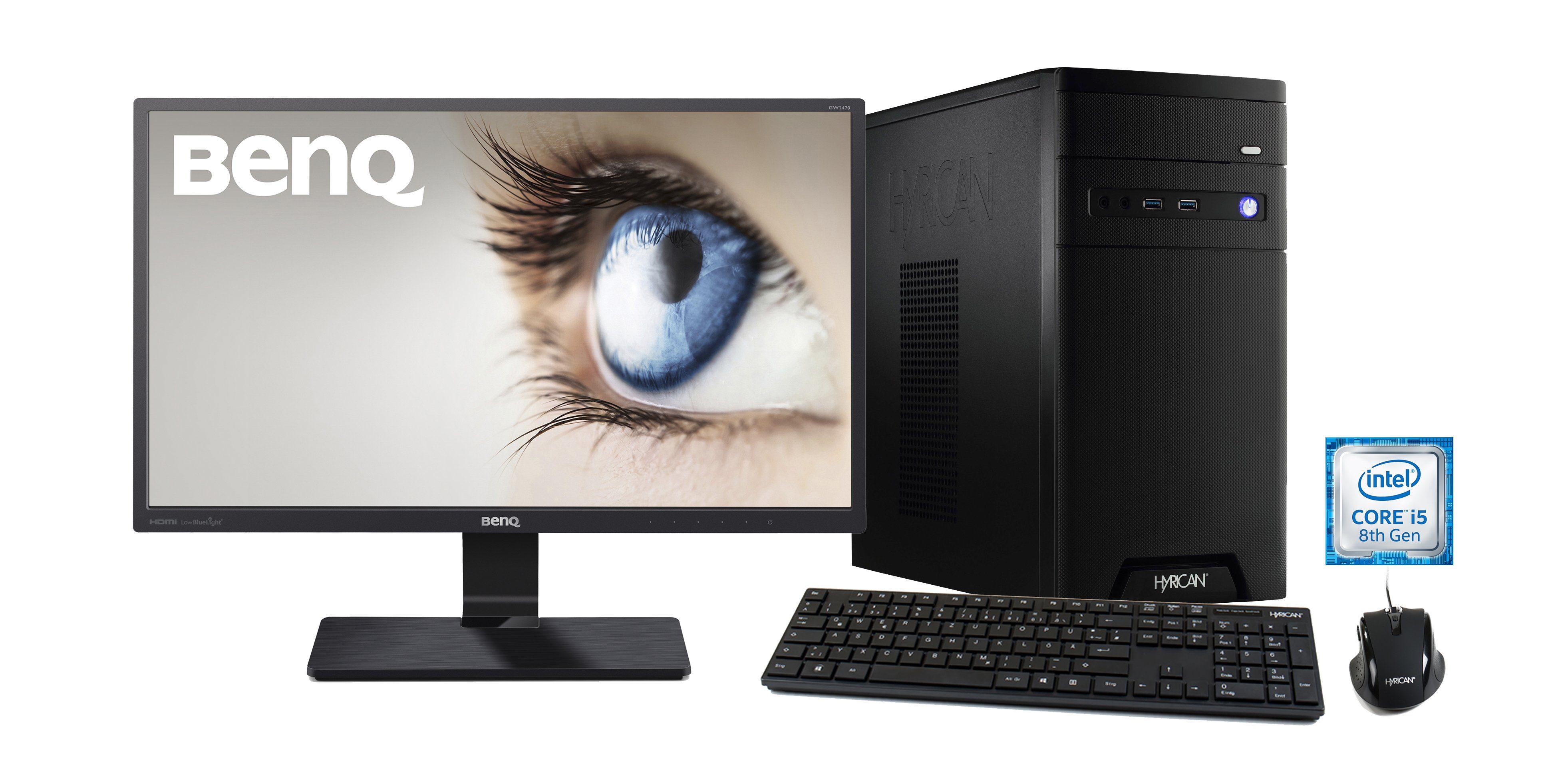 HYRICAN Intel® i5-8400 8GB 120GB 1TB GeForce® GTX 1060+ Monitor »CyberGamer SET1431«