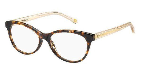 Fossil Damen Brille » FOS 6044«, braun, HIQ - braun