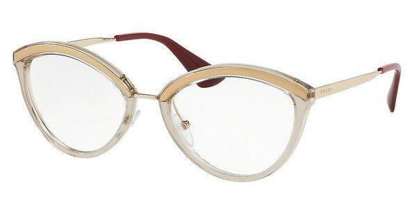 PRADA Prada Damen Brille » PR 14UV«, goldfarben, KJM1O1 - gold