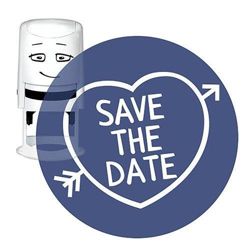 "NIO Stempelmotiv ""SAVE THE DATE"" 4 cm"