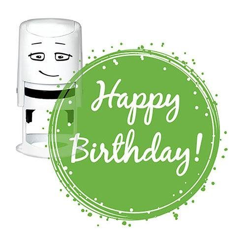 "NIO Stempelmotiv ""Happy Birthday - bagde"""