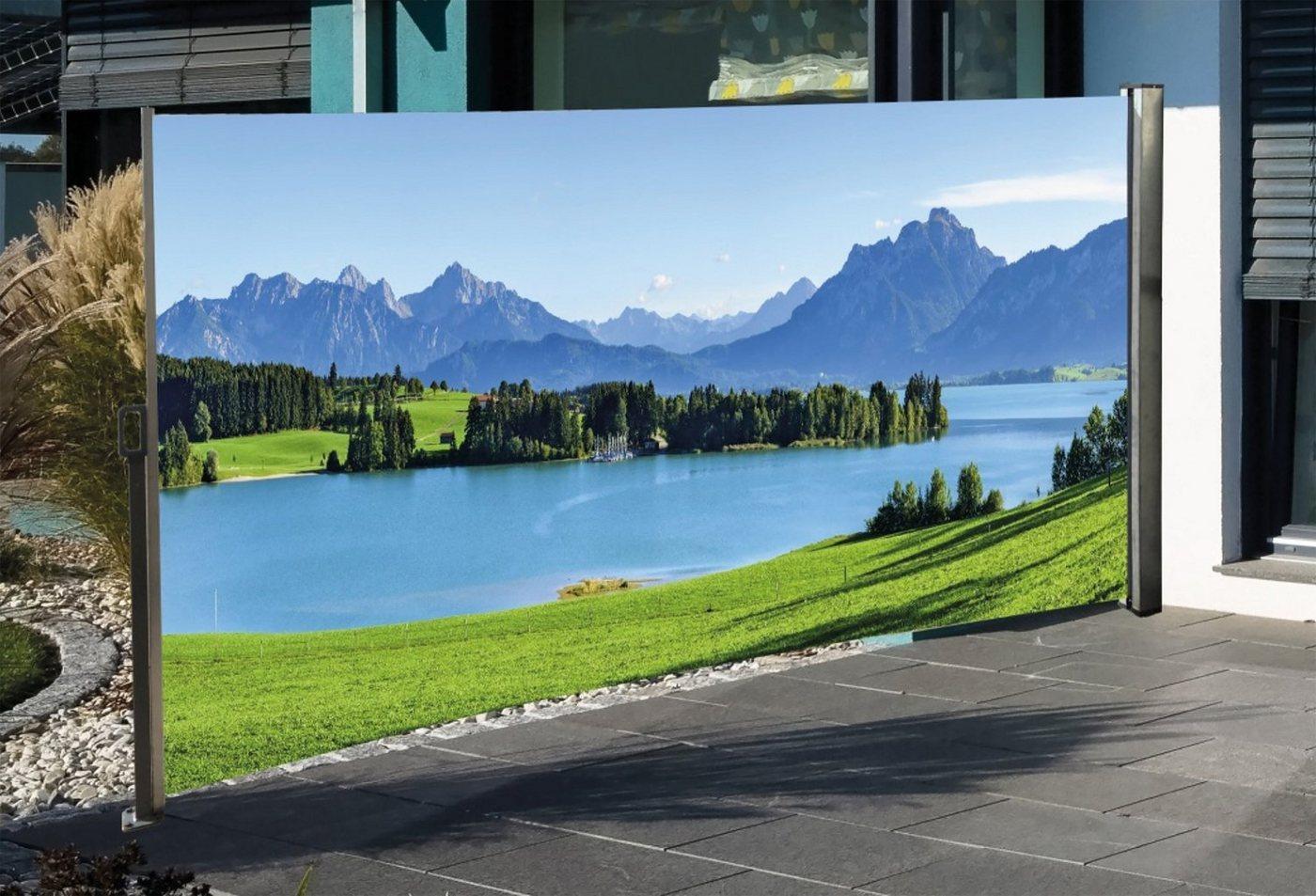 HTI-Living Seitenmarkise mit Fotodruck »Berge« | Garten > Balkon > Sichtschutz | Bunt | HTI-Living