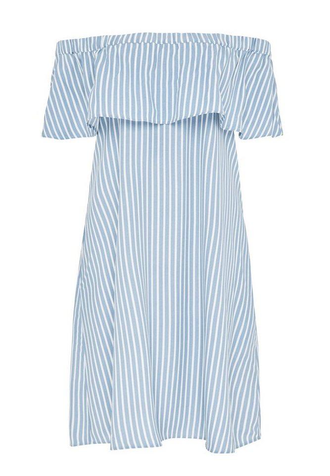Hallhuber Off-Shoulder-Kleid, mit Streifen kaufen   OTTO