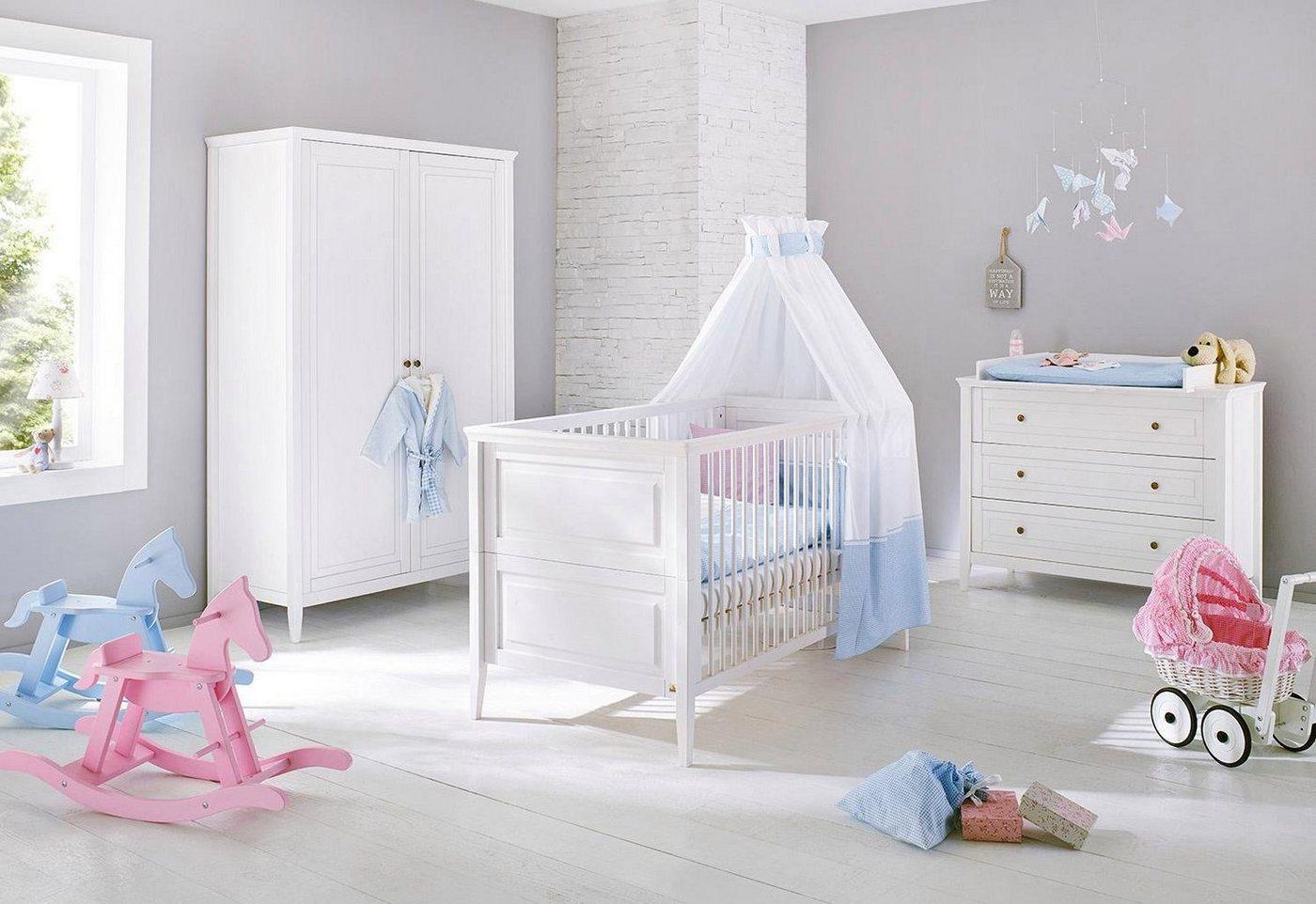Pinolino Babyzimmer-Set (3-tlg.), Kinderzimmer, »Smilla breit« | Kinderzimmer > Babymöbel > Komplett-Babyzimmer | Kiefer | Pinolino®