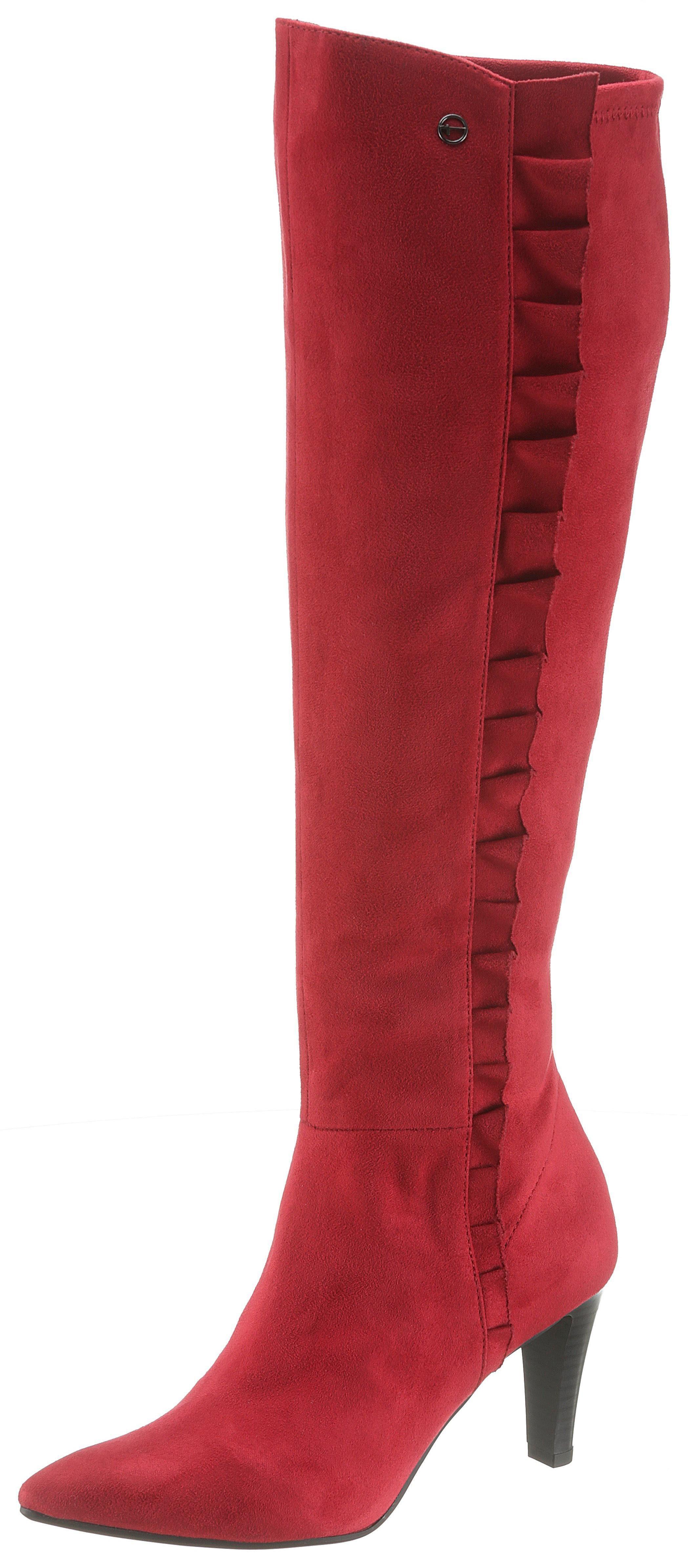 Tamaris Stiefel mit eleganter Rüschenverzierung   OTTO
