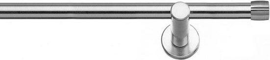 Gardinenstange »Linz«, indeko, Ø 20 mm, 1-läufig, Wunschmaßlänge, Weiß-Glanz 19mm Ø