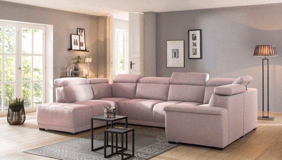 home affaire wohnlandschaft brix mit kopfteilverstellung wahlweise mit sitztiefenverstellung. Black Bedroom Furniture Sets. Home Design Ideas