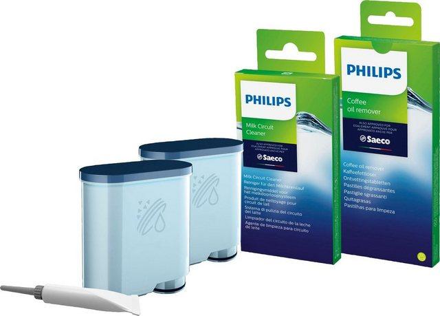 Saeco CA6707 10 Pflegeset 15-tlg., 2 x AquaClean Filter, 6 x Kaffeefettlöse-Tabletten, 6 x Milchkreislauf-Reiniger, Brühgruppenfett