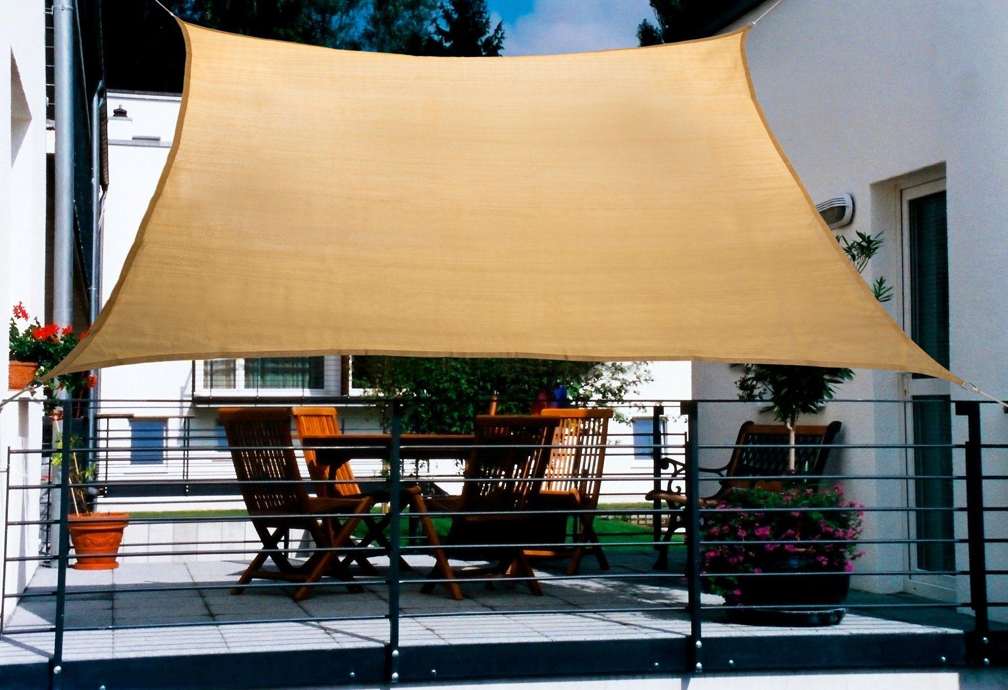 FLORACORD Sonnensegel , BxL: 270x140 cm, weizenfarben | Garten > Sonnenschirme und Markisen > Sonnensegel | Polyethylen | Floracord