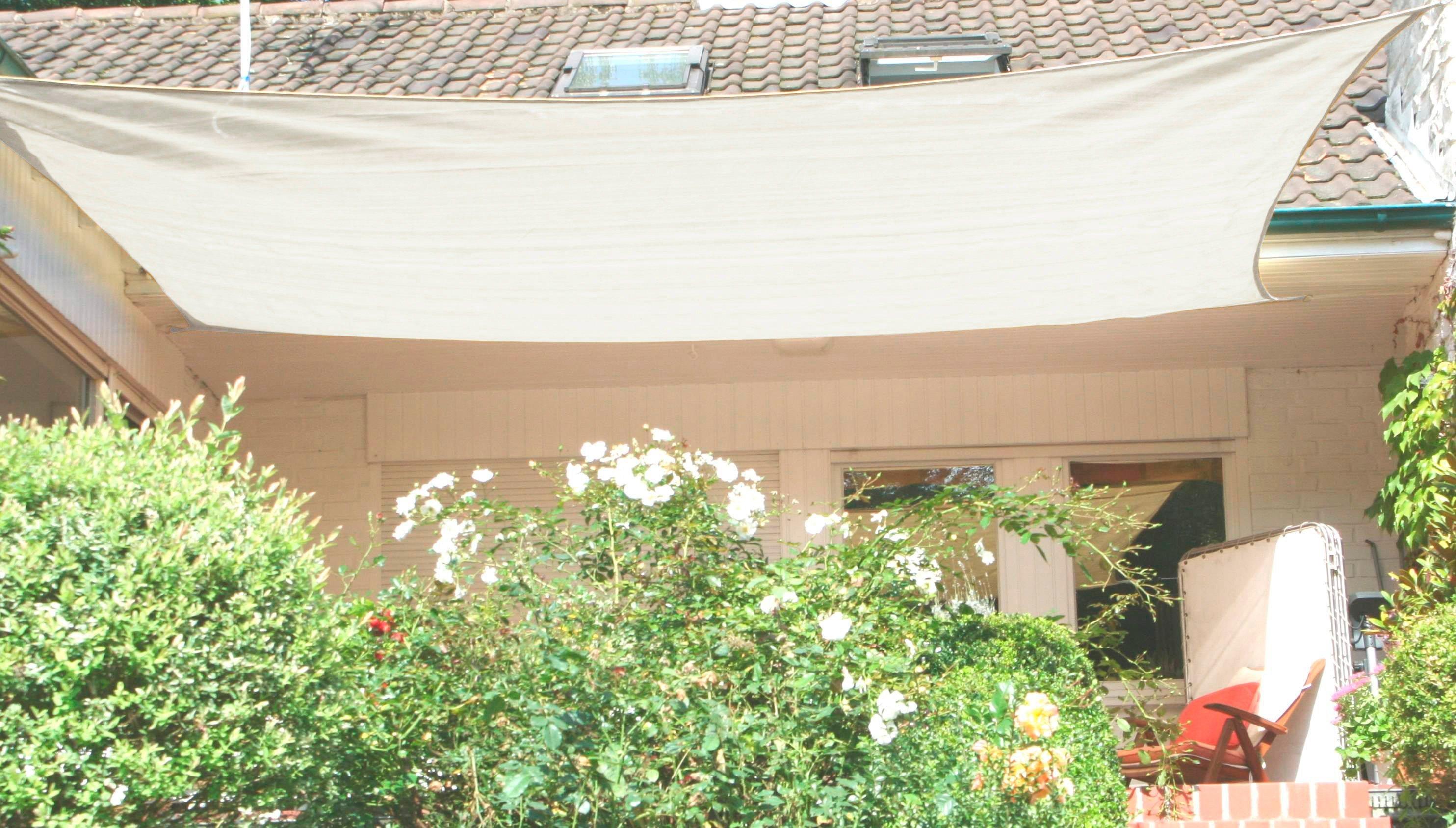 FLORACORD Sonnensegel , BxL: 500x400 cm, cremeweiß | Garten > Sonnenschirme und Markisen > Sonnensegel | Polyethylen | Floracord