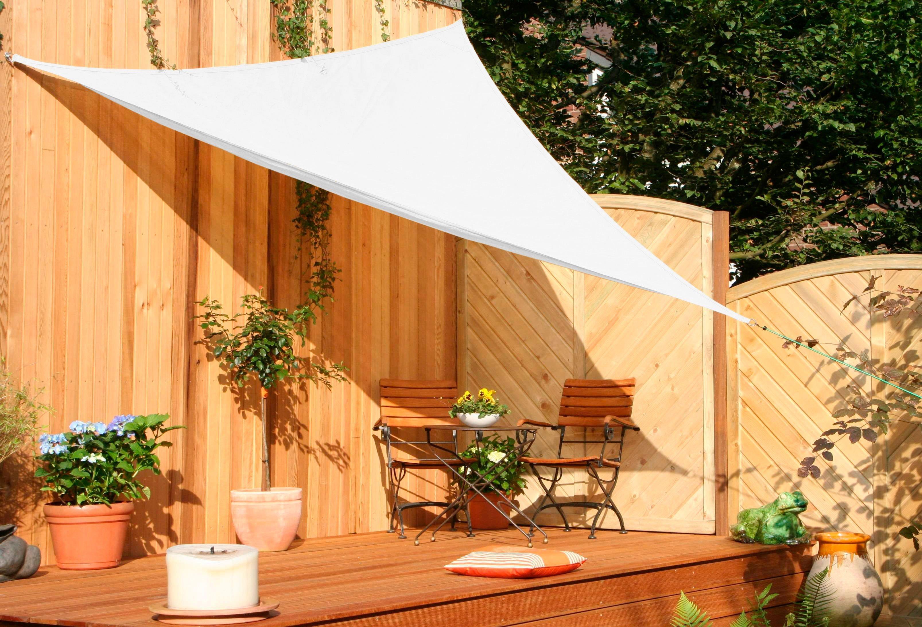 FLORACORD Sonnensegel , B: 300 cm, cremeweiß | Garten > Sonnenschirme und Markisen > Sonnensegel | Polyethylen | Floracord