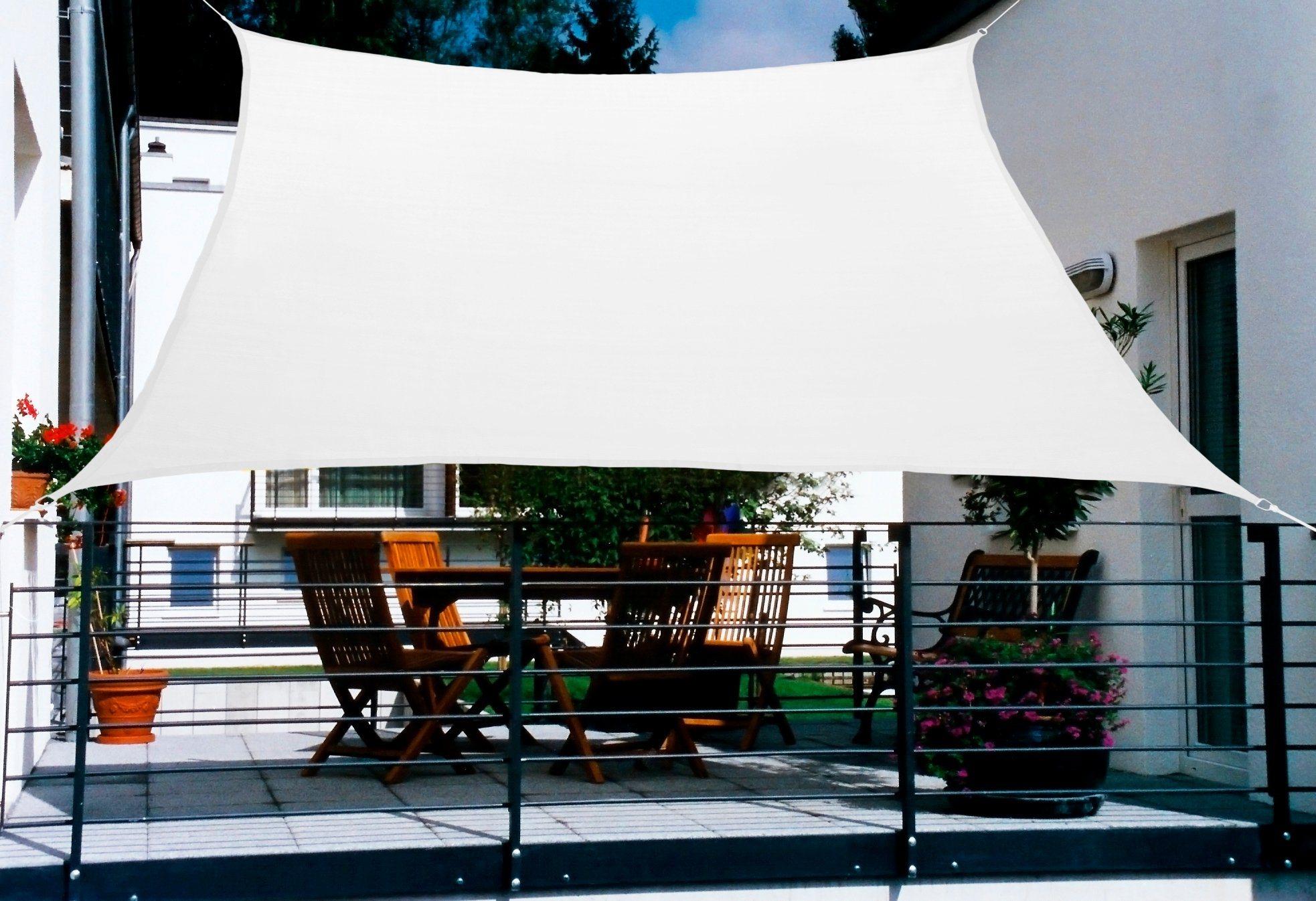 FLORACORD Sonnensegel , BxL: 270x140 cm, cremeweiß | Garten > Sonnenschirme und Markisen > Sonnensegel | Polyethylen | Floracord