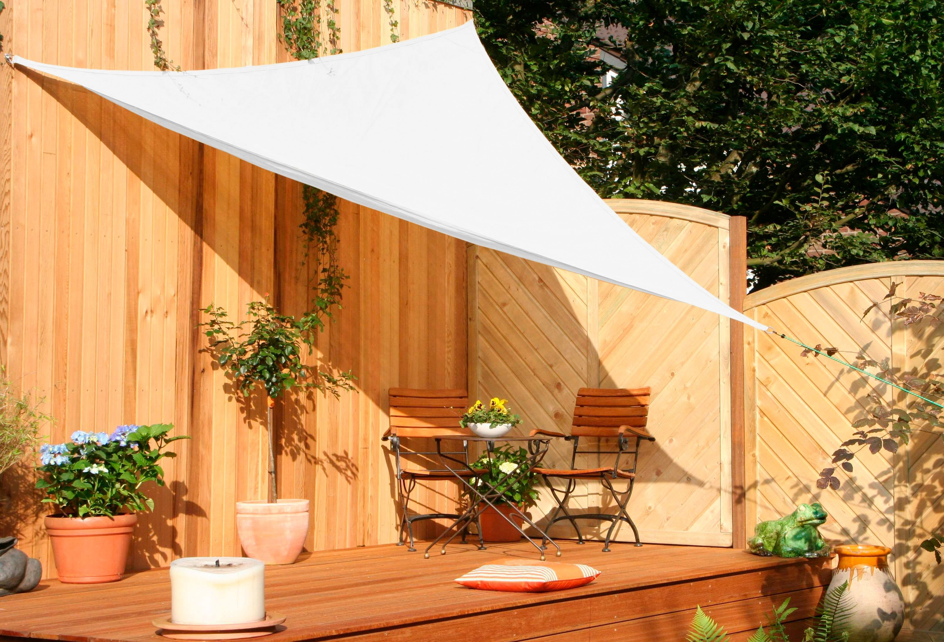 FLORACORD Sonnensegel , B: 360 cm, cremeweiß | Garten > Sonnenschirme und Markisen > Sonnensegel | Polyethylen | Floracord
