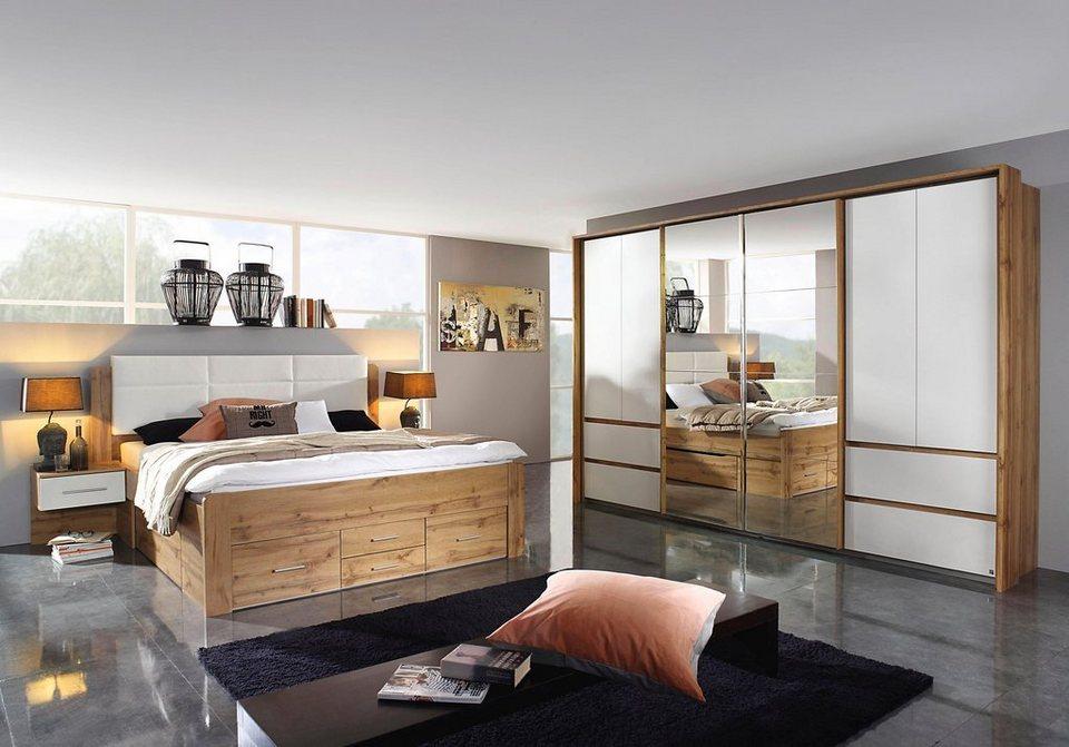 rauch Schlafzimmer-Set »Weingarten«, Set aus Bett, 2 Nachttischen und  Synchron-Schwebetürenschrank online kaufen   OTTO