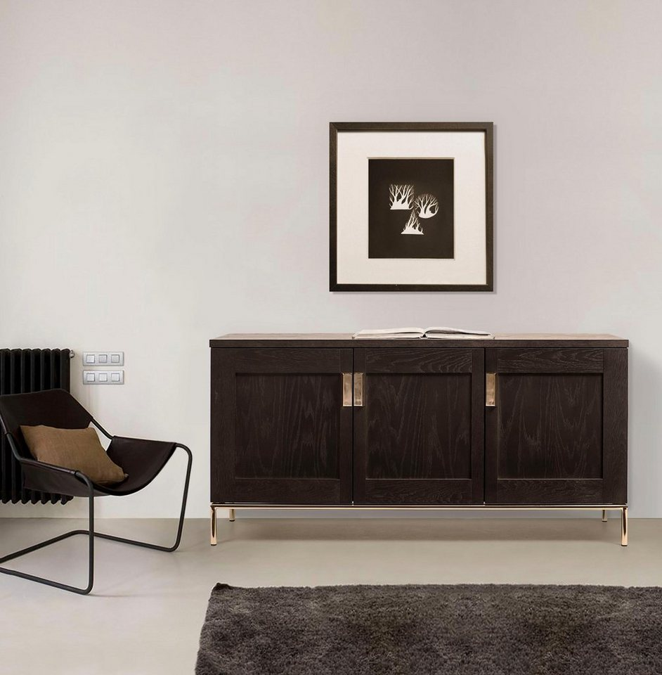 woodman sideboard parlan mit drei holzt ren und. Black Bedroom Furniture Sets. Home Design Ideas