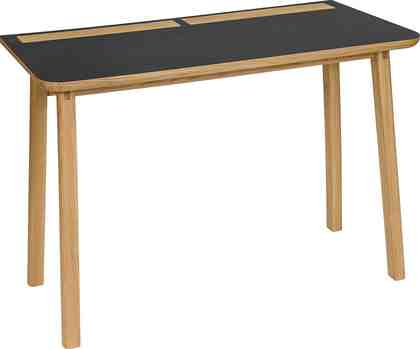 Woodman Schreibtisch »Mati«, mit zwei Ledertaschen an der Seite des Tisches für gute Stauraummöglichkeiten , Breite 115 cm