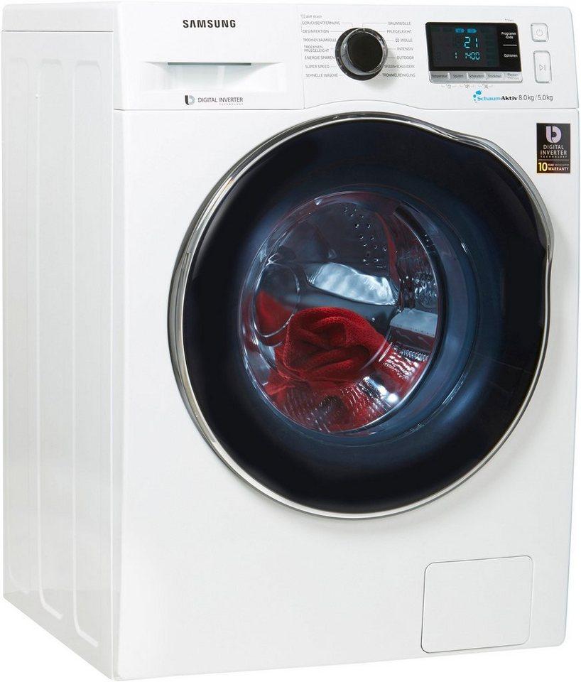Samsung Waschtrockner WD80J6A00AW/EG, 8 kg/5 kg, 1400 U/Min