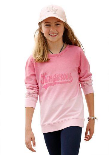 KangaROOS Sweatshirt mit modischem Farbverlauf