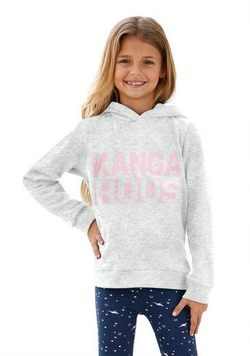 KangaROOS Kapuzensweatshirt mit Glitzerdruck