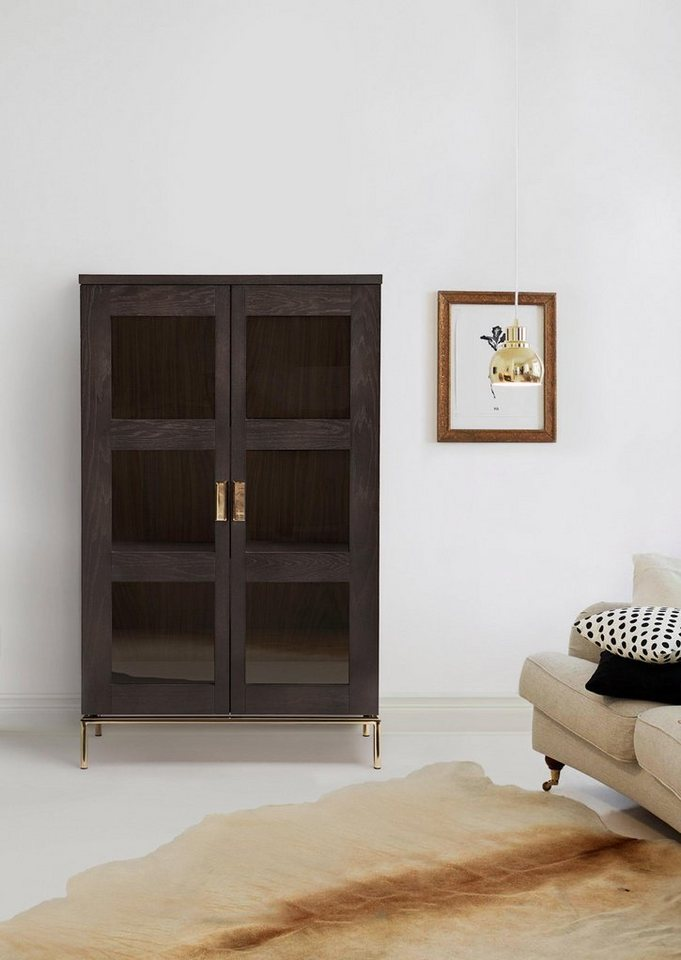 woodman vitrine parlan mit zwei glast ren und soft. Black Bedroom Furniture Sets. Home Design Ideas