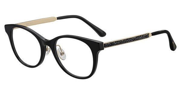JIMMY CHOO Jimmy Choo Damen Brille » JC209/F«, schwarz, 807 - schwarz