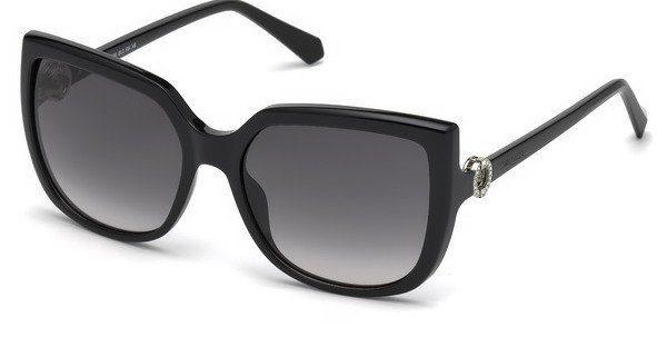 Swarovski Damen Sonnenbrille » SK0166«, schwarz, 01B - schwarz/grau