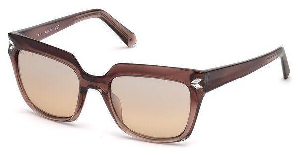 Swarovski Damen Sonnenbrille » SK0170«, rosa, 74G - rosa/braun