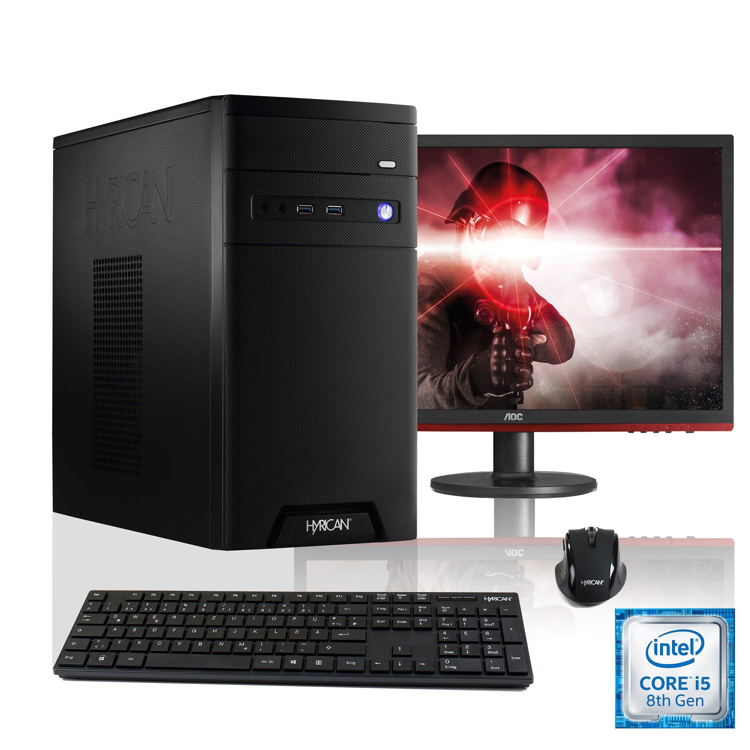 HYRICAN Intel® i5-8400 8GB 120GB 1TB GeForce® GTX 1060+ Monitor »CyberGamer SET1424«