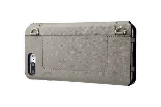 GRAMAS Handytasche »FLC296PGY Sac aus Kunstleder iPhone 8/7 Plus grau«