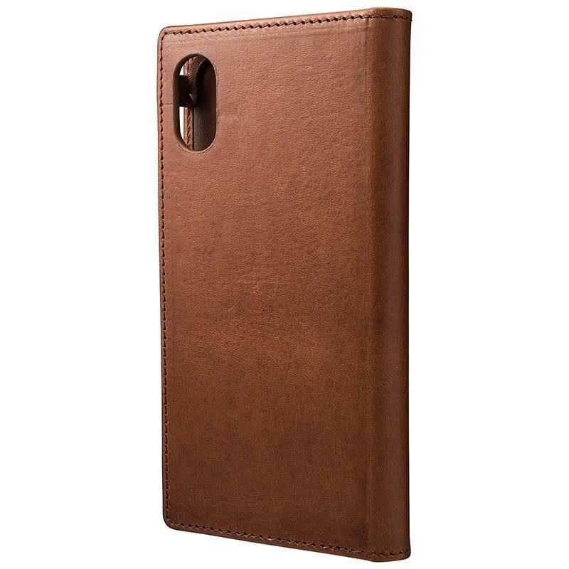 GRAMAS Premium Handytasche »GLC-75317DBR Toiano Leder iPhone X dunkelbraun«