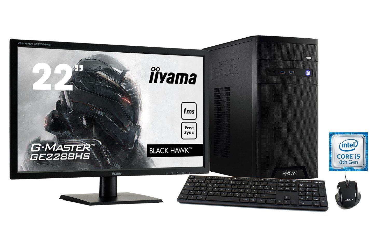 HYRICAN Intel® i5-8400 8GB 120GB 1TB GeForce® GTX 1060+ Monitor »CyberGamer SET1440«