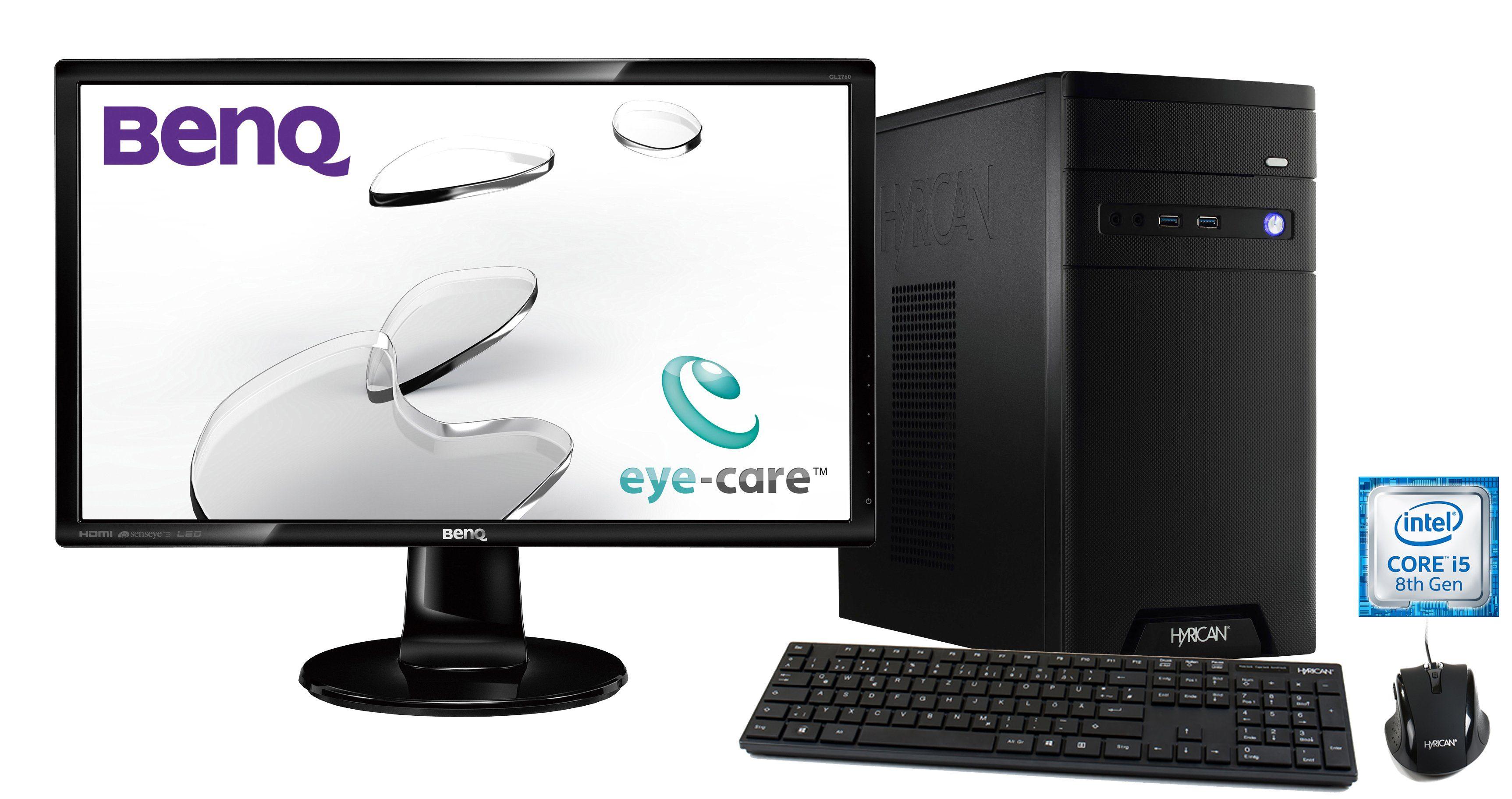 HYRICAN Intel® i5-8400 8GB 120GB 1TB GeForce® GTX 1060+ Monitor »CyberGamer SET1444«