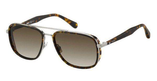 Fossil Herren Sonnenbrille » FOS 2062/S«, braun, N9P/HA - braun/braun