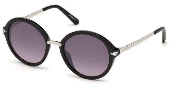 Swarovski Damen Sonnenbrille » SK0153«, schwarz, 01C - schwarz/grau