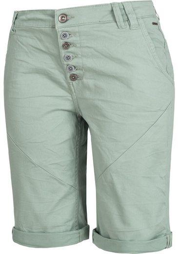 Stitch & Soul Shorts »61142AZA« leichte Bermuda mit auffälliger Knopfleiste