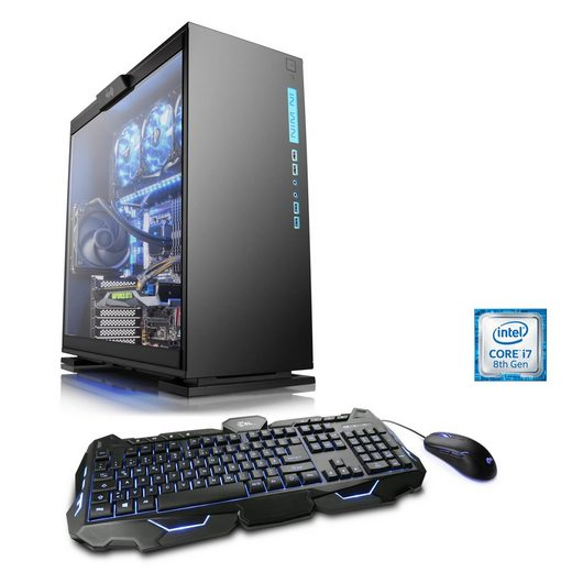 CSL Gaming PC, Core i7-8700K, GeForce GTX 1060, 16 GB DDR4, SSD »HydroX T9940 Wasserkühlung«