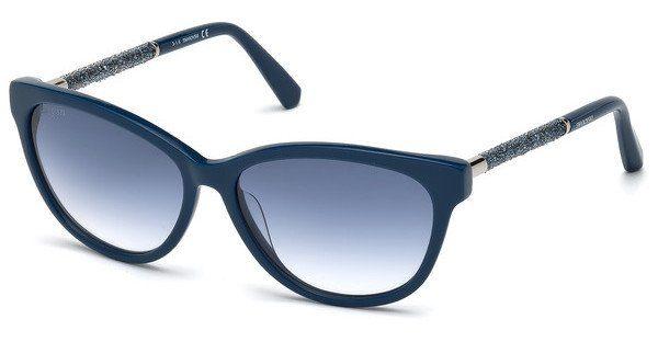 Swarovski Damen Sonnenbrille » SK0131«, blau, 90W - blau/blau