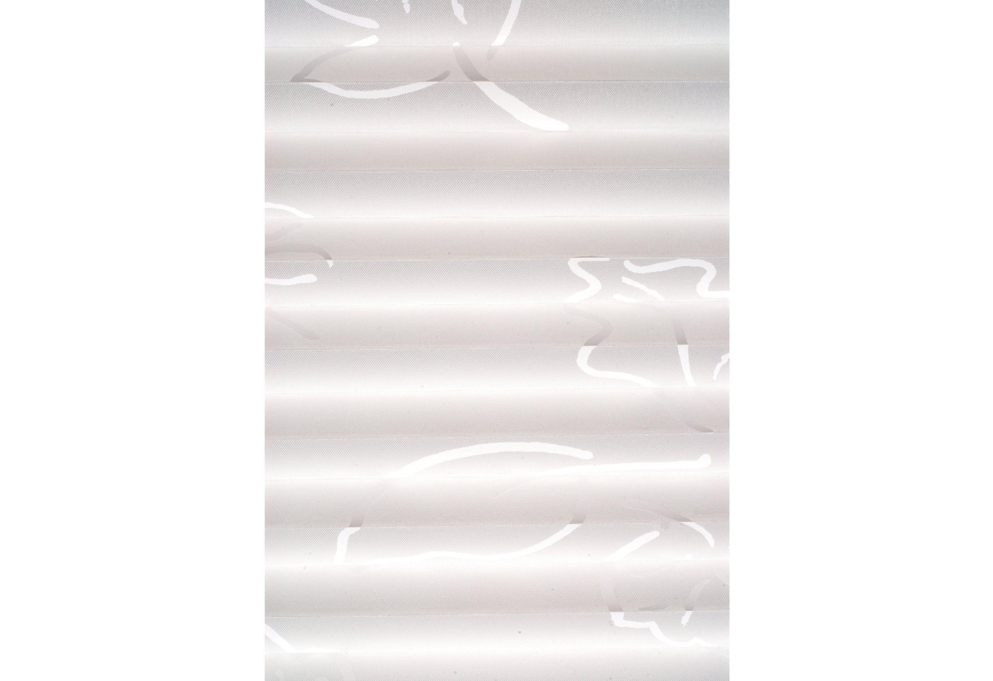 Plissee, Sunlines, Faltenstore, silbernes Profil, Lichtschutz, Wunschmaß, Blätter