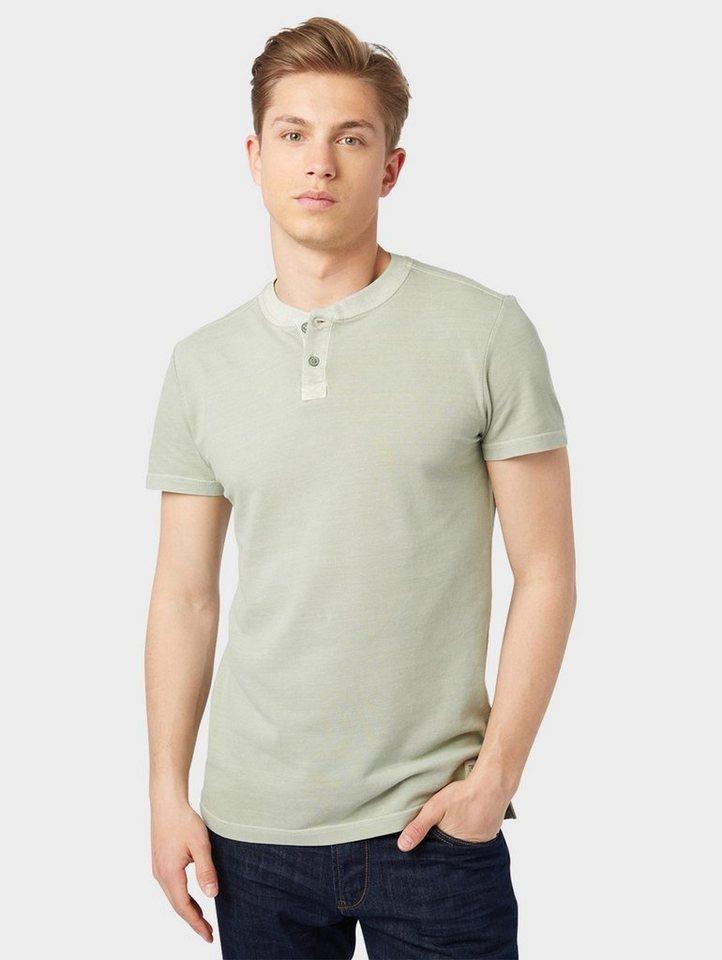 Herren TOM TAILOR Denim  T-Shirt mit Knopfleiste blau | 04059491413987