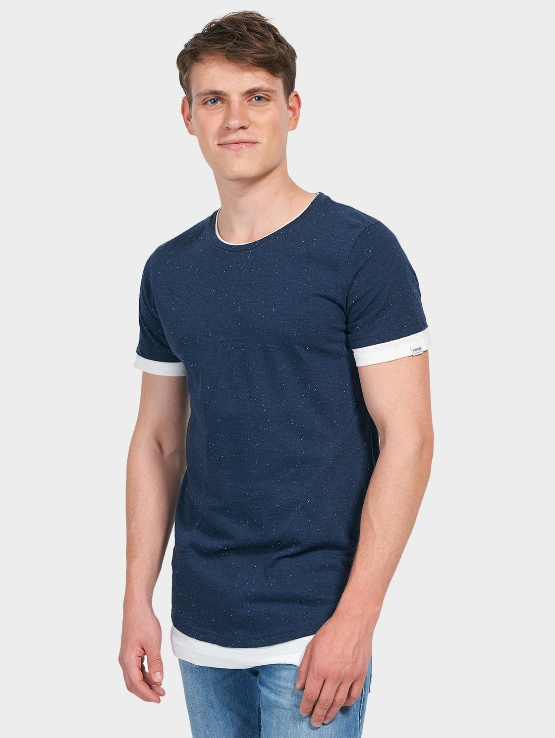 TOM TAILOR Denim T-Shirt »mit Underlayer«