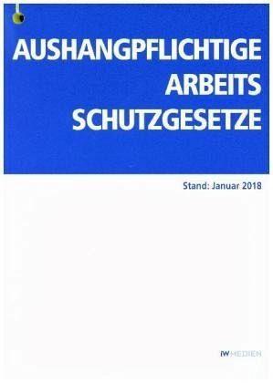 Broschiertes Buch »Aushangpflichtige Arbeitsschutzgesetze«