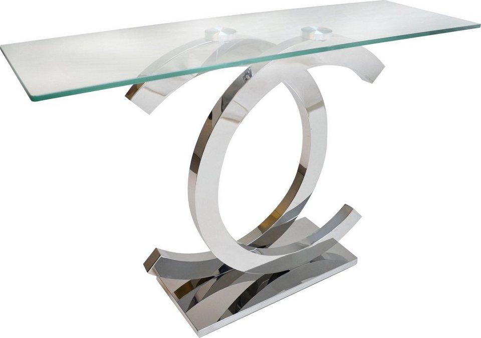 home affaire klassische konsole christy mit glasplatte. Black Bedroom Furniture Sets. Home Design Ideas