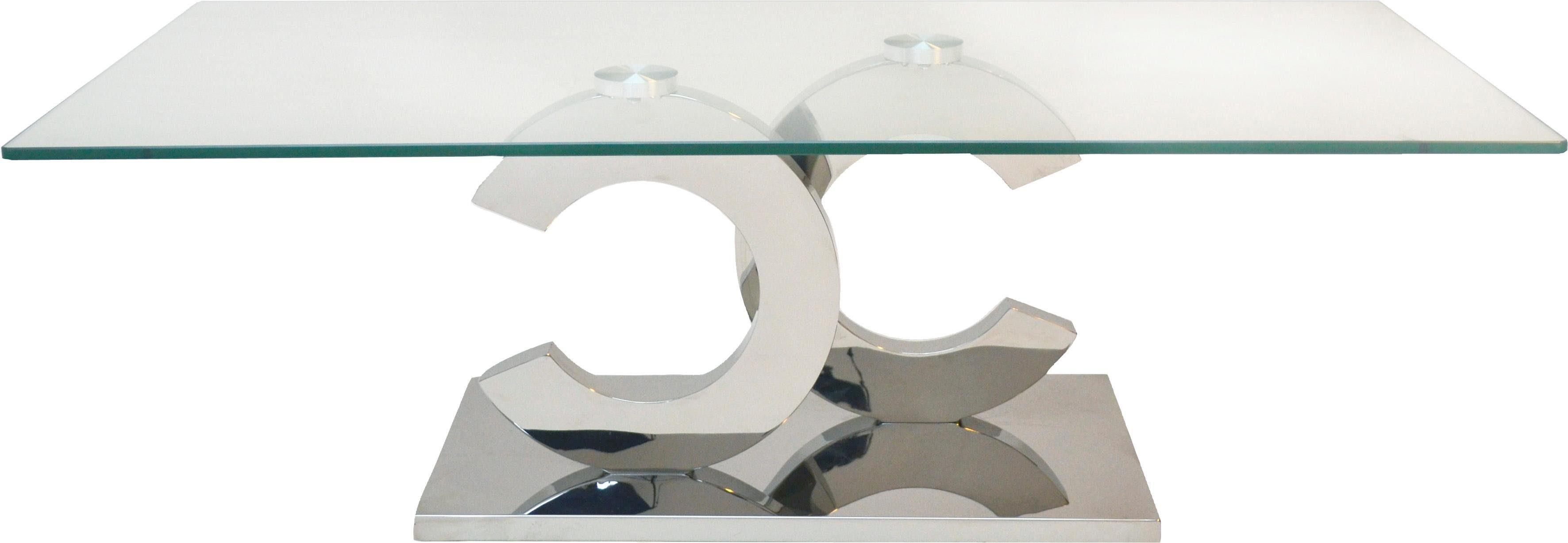 Home affaire Couchtisch »Christy« mit Glasplatte, Breite 120 cm