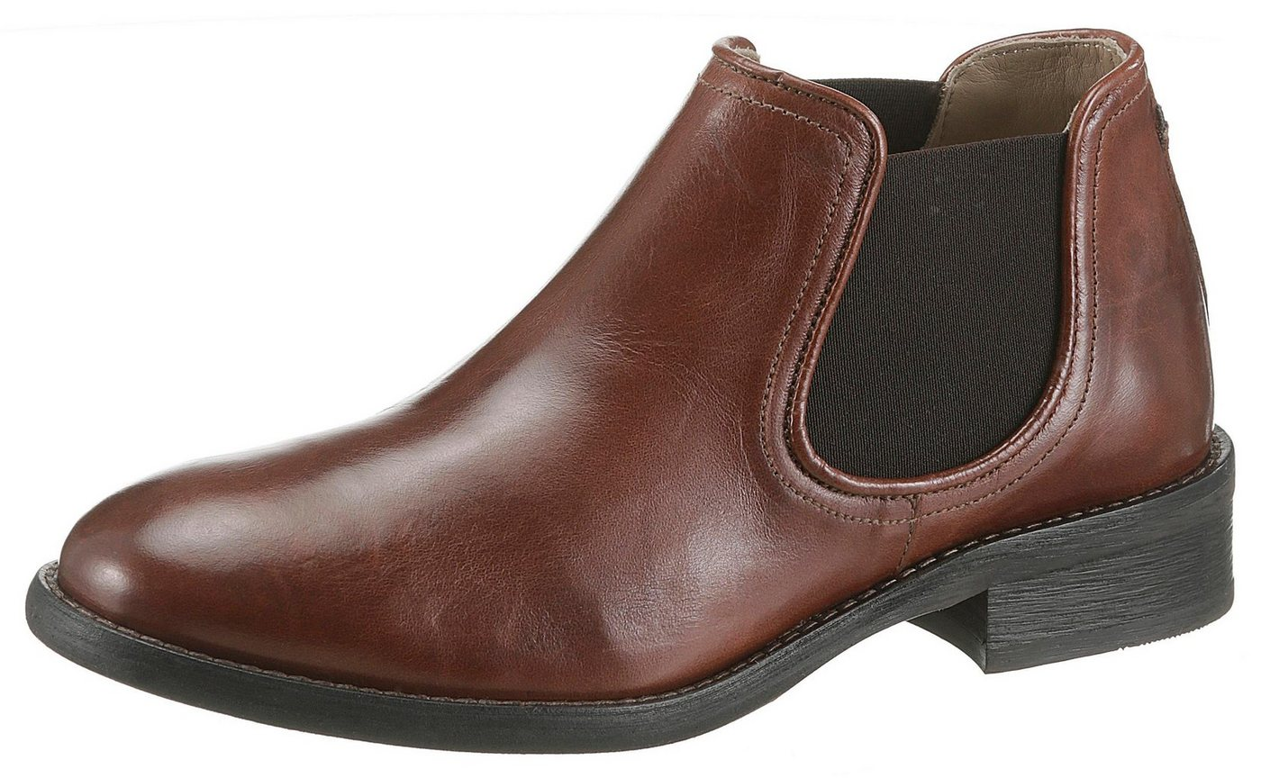 Marc O´Polo Chelseaboots in klassischer Optik | Schuhe > Boots > Chelsea-Boots | Braun | Leder - Jeans | Marc O´Polo