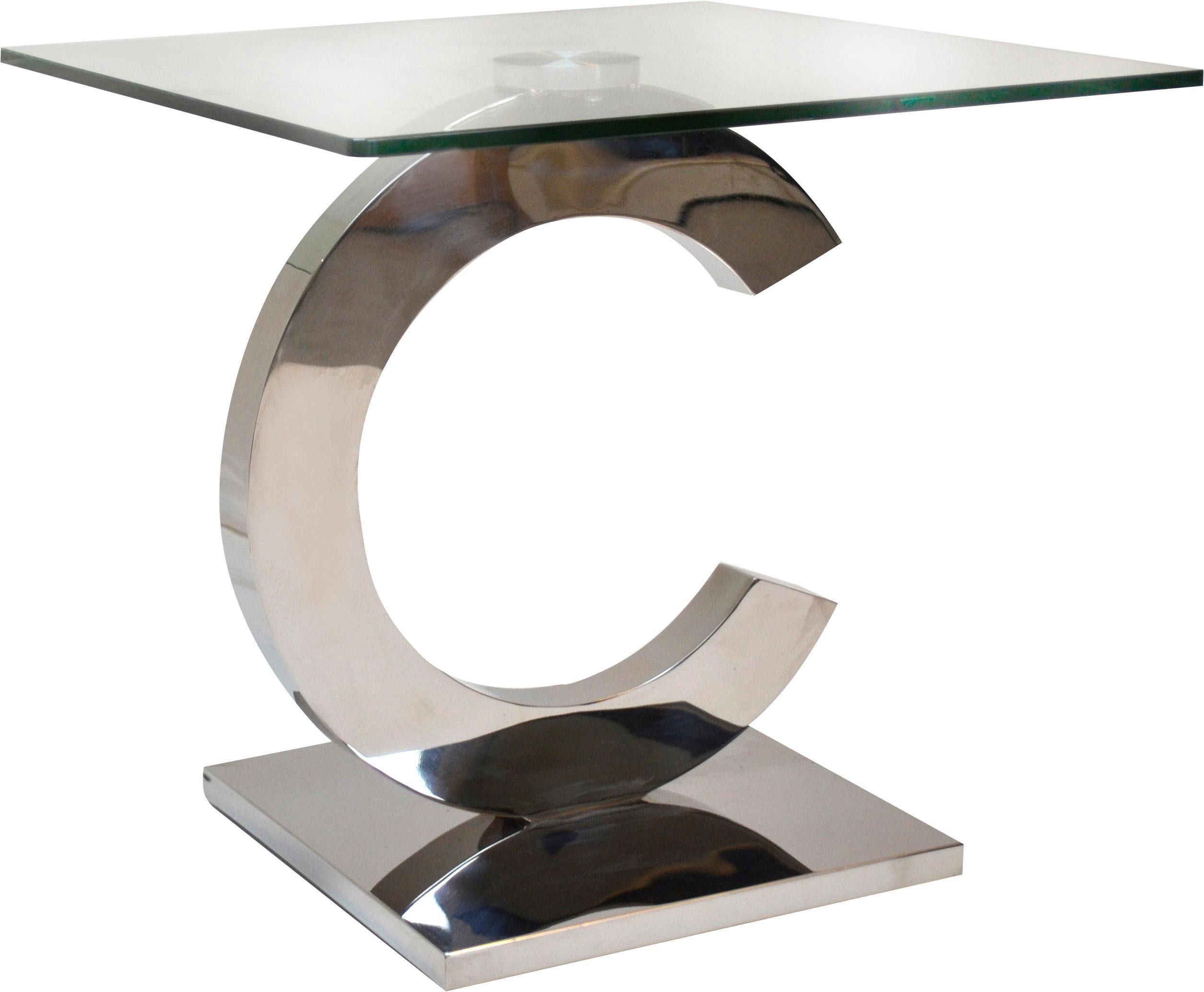 Home affaire Beistelltisch »Chrity« mit Glasplatte, Breite 60 cm