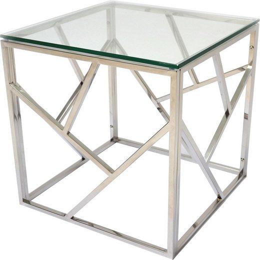 Leonique Beistelltisch, mit Glasplatte, klassisch