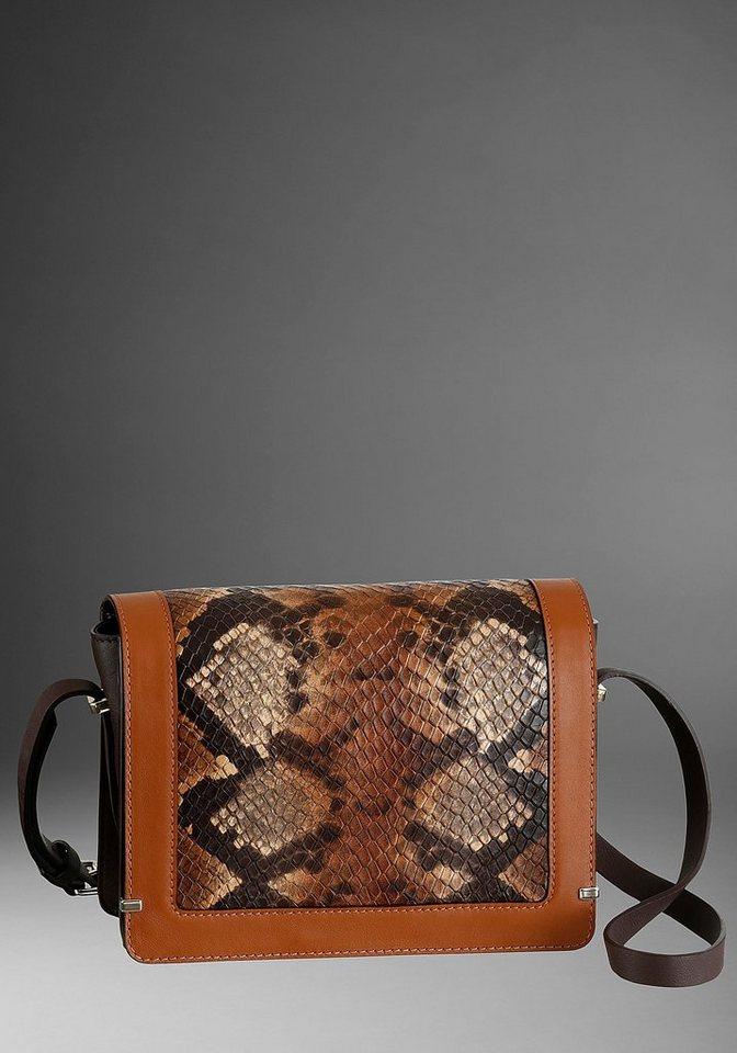 guido maria kretschmer -  Umhängetasche, aus Leder mit Snake Prägung