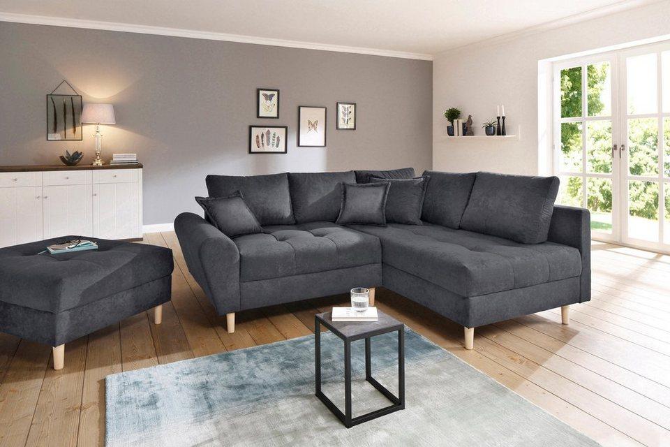 home affaire polsterecke rice incl hocker mit federkern online kaufen otto. Black Bedroom Furniture Sets. Home Design Ideas